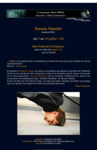 création « Sonata Hamlet » autour de Hamlet-Machine de Heiner Müller